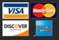 Visa/MC/Amex/Discover logos